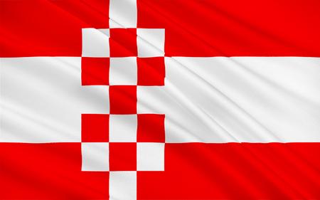 north rhine westphalia: Flag of Hamm is a city in North Rhine-Westphalia, Germany. 3d illustration