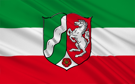 north rhine westphalia: Flag of North Rhine-Westphalia is the most populous state of Germany