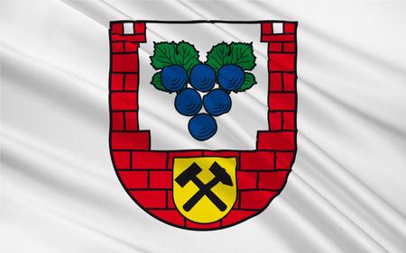 reich: Flag of Burgenlandkreis is a district in Saxony-Anhalt, Germany. 3d illustration