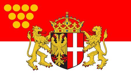north rhine westphalia: Flag of Neuss is a city in North Rhine-Westphalia, Germany. 3d illustration