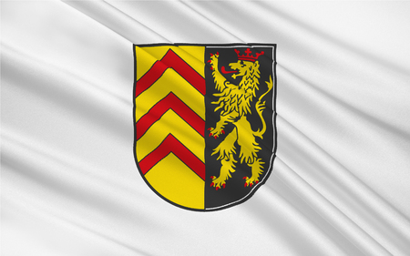Flag of Sudwestpfalz is a district in the south of Rhineland-Palatinate, Germany