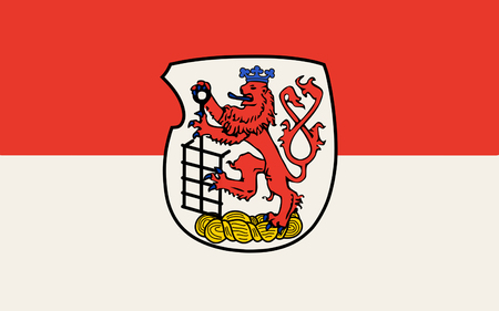 north rhine westphalia: Flag of Wuppertal is a city in North Rhine-Westphalia, Germany. 3d illustration Stock Photo