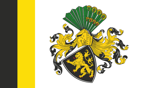 Flag of Gera is the third-largest city in Thuringia, Germany