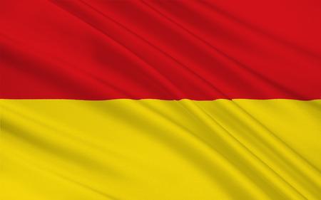 north rhine westphalia: Flag of Paderborn is a city in eastern North Rhine-Westphalia, Germany. 3d illustration