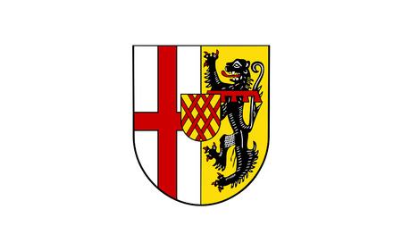 district': Flag of Vulkaneifel is a district in the northwest of the state Rhineland-Palatinate, Germany