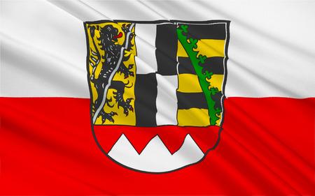 bavaria: Flag of Upper Franconia of Bavaria, southern Germany. 3d illustration Stock Photo