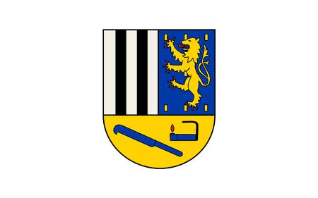 westfalen: Flag of Siegen-Wittgenstein is a district in the southeast of North Rhine-Westphalia, Germany. 3d illustration Stock Photo