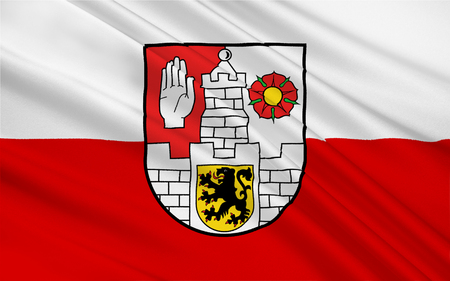 nationalist: Flag of Altenburg is a city in Thuringia, Germany Stock Photo