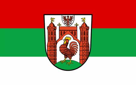 Flag of Frankfurt (Oder) is a town in Brandenburg, Germany. 3d illustration Stock Photo