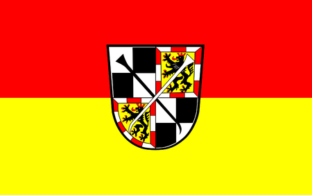 bavaria: Flag of Bayreuth is a sizeable town in northern Bavaria, Germany. 3d illustration