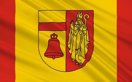 munster: Flag of Coesfeld is a district in the northwestern part of North Rhine-Westphalia, Germany. 3d illustration Stock Photo