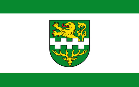 north rhine westphalia: Flag of Bergisch Gladbach is a town of North Rhine-Westphalia, Germany. 3d illustration Stock Photo