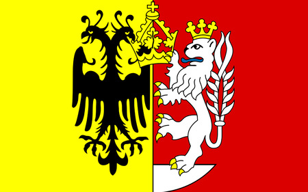 Flag of Gorlitz is a district in the Free State of Saxony, Germany