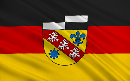 saarlouis: Flag of Saarlouis is a Kreis (district) in the middle of the Saarland, Germany