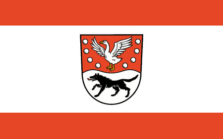 northwestern: Flag of Prignitz is a district in the northwestern part of Brandenburg, Germany. 3d illustration