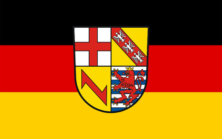 district': Flag of Merzig-Wadern is a Kreis (district) in the northwest of the Saarland, Germany Stock Photo