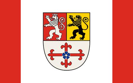 north rhine westphalia: Flag of Heinsberg is a district in the west of North Rhine-Westphalia, Germany. 3d illustration Stock Photo