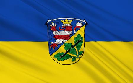 Flag of Kassel is a district in the north of Hesse, Germany. 3d illustration