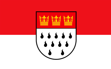 north rhine westphalia: Flag of Cologne is the largest city in the German federal State of North Rhine-Westphalia, Germany