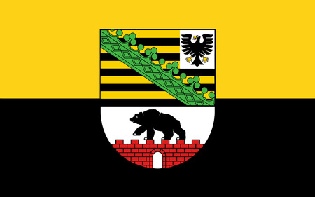 republik: Flag of Saxony-Anhalt is a landlocked federal state of Germany
