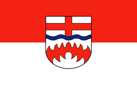 north rhine westphalia: Flag of Paderborn is a district in the east of North Rhine-Westphalia, Germany. 3d illustration Stock Photo
