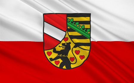 nationalist: Flag of Saale-Holzland is a Kreis (district) in the east of Thuringia, Germany Stock Photo
