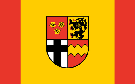 north rhine westphalia: Flag of Euskirchen is a district in the south-west of North Rhine-Westphalia, Germany. 3d illustration
