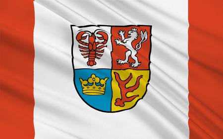 brandenburg: Flag of Spree-Neisse is a district in the southern part of Brandenburg, Germany. 3d illustration