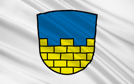 reich: Flag of Bautzen is a district in the state of Saxony in Germany. 3d illustration
