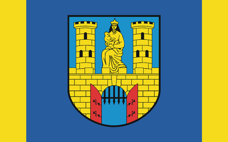 burg: Flag of Burg bei Magdeburg is a town in Saxony-Anhalt, Germany