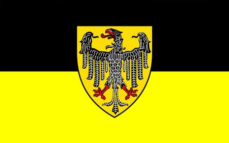 westfalen: Flag of Aachen town in North Rhine-Westphalia, Germany