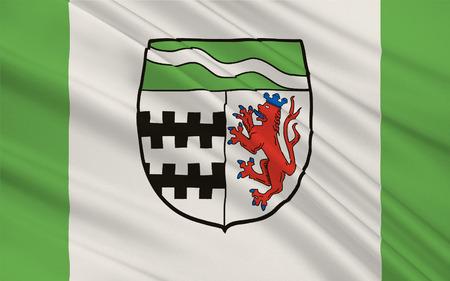 Flag of Rheinisch-Bergische Kreis is a district in the Cologne Bonn Region of North Rhine-Westphalia, Germany. 3d illustration