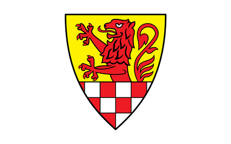 north rhine westphalia: Flag of Unna district is a district in central North Rhine-Westphalia, Germany. 3d illustration