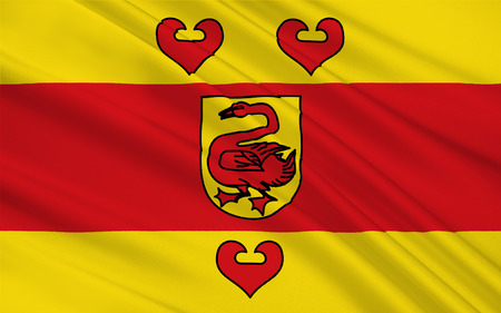 munster: Flag of Steinfurt is a district in the northern part of North Rhine-Westphalia, Germany. 3d illustration