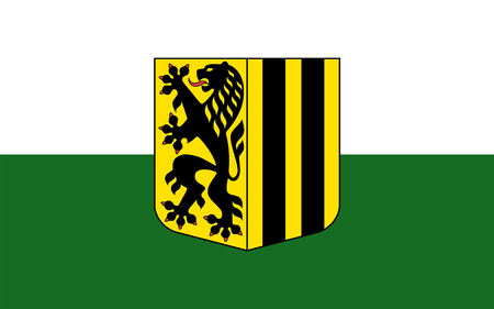 Flag of Dresden is the capital city of the Free State of Saxony in Germany
