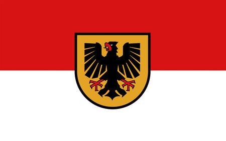 westfalen: Flag of Dortmund is an independent city in North Rhine-Westphalia, Germany