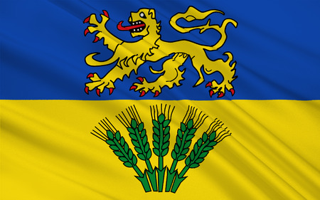 federal republic of germany: Flag of Wolfenbuttel is a district in southeastern Lower Saxony, Germany. 3d illustration