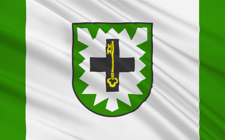 westfalen: Flag of Recklinghausen is a district in the middle of North Rhine-Westphalia, Germany. 3d illustration