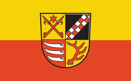 brandenburg: Flag of Oder-Spree is a district in the eastern part of Brandenburg, Germany. 3d illustration Stock Photo