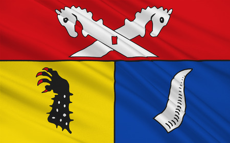 Flag of Nienburg is a district in Lower Saxony, Germany. 3d illustration