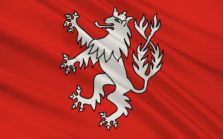 north rhine westphalia: Flag of Heinsberg is a town in North Rhine-Westphalia, Germany. 3d illustration