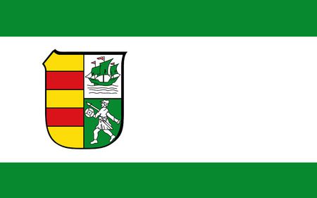 district': Flag of Wesermarsch is a district in the northwestern part of Lower Saxony, Germany. 3d illustration