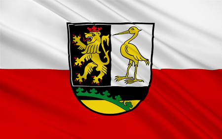 district': Flag of Greiz is a Kreis (district) in the east of Thuringia, Germany Stock Photo