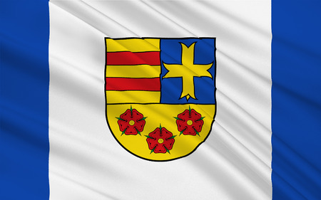 holstein: Flag of Oldenburg is a district in the state of Lower Saxony, Germany. 3d illustration Stock Photo