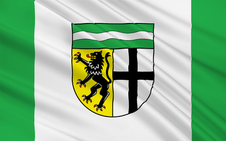 north rhine westphalia: Flag of Rhein-Erft-Kreis is a district in the west of North Rhine-Westphalia, Germany. 3d illustration