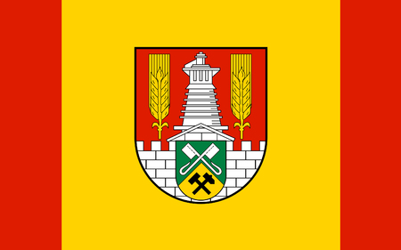 federal republic of germany: Flag of Salzgitter is an independent city in southeast Lower Saxony, Germany. 3d illustration