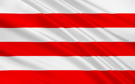 northwestern: Flag of Wismar is a port and Hanseatic city in Northern Germany. 3d illustration