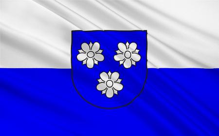 north rhine westphalia: Flag of Viersen is the capital of the district of Viersen, in North Rhine-Westphalia, Germany. 3d illustration