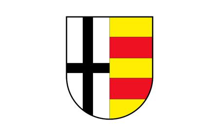 north rhine westphalia: Flag of Olpe is a district in the south-east of North Rhine-Westphalia, Germany. 3d illustration