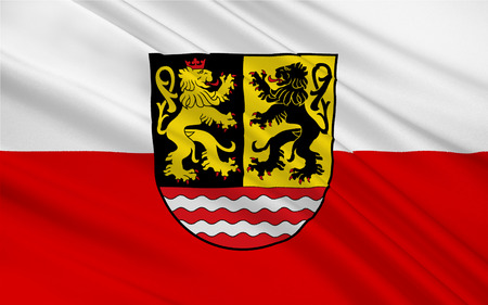 nationalist: Flag of Saale-Orla is a Kreis (district) in the east of Thuringia, Germany Stock Photo